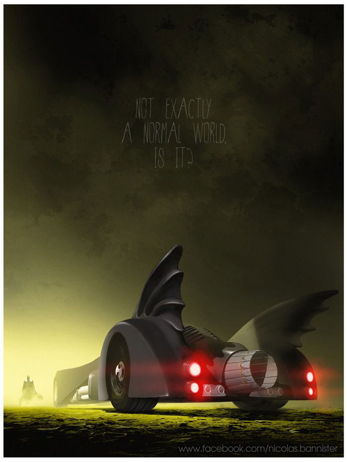 A Beautiful Collection Of Fan Made Movie Posters - Famous movie cars beautifully illustrated