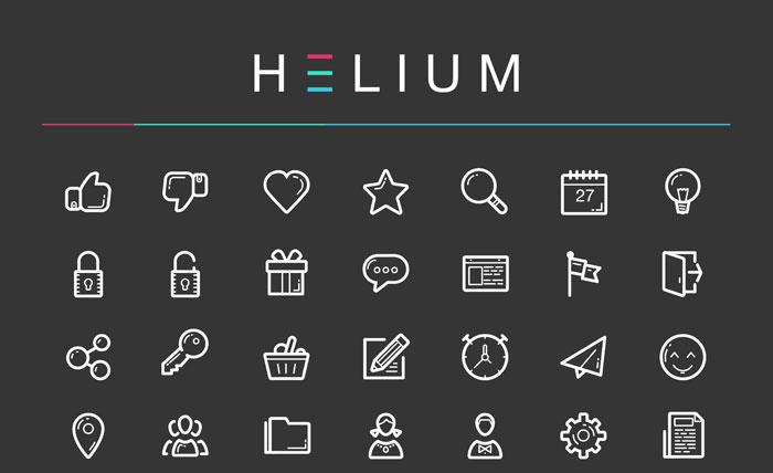 Helium: Free Icon Set