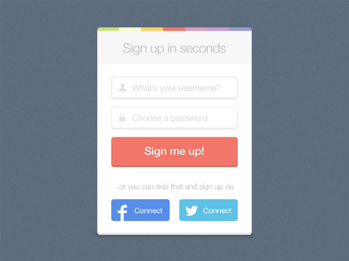 Designing Usable Sign Up Forms