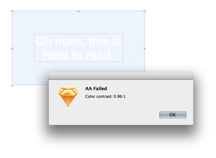 Color Contrast Analyser for Sketch