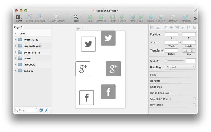 Sketch CSS Sprite Mixin