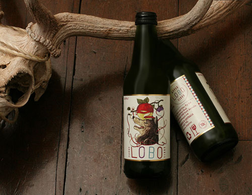 Lobo Apple Cider Package Design