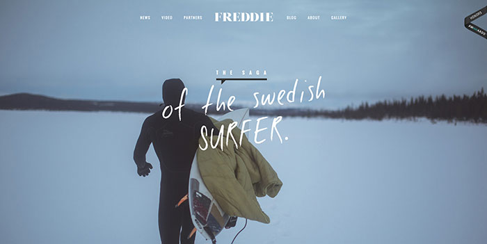 freddiemeadows_com Cool Website Designs: 48 Great Website Design Examples