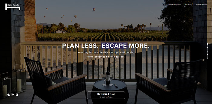 hoteltonight_com Cool Website Designs: 48 Great Website Design Examples