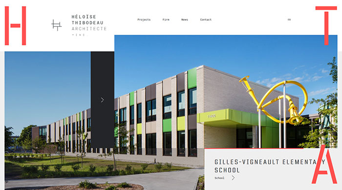 htarchitecte_com_en Cool Website Designs: 48 Great Website Design Examples