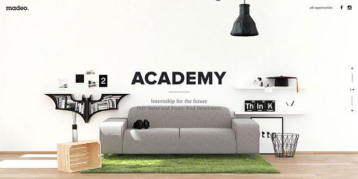 Madeo_academy_en Cool Website Designs: 78 Great Website Design Examples