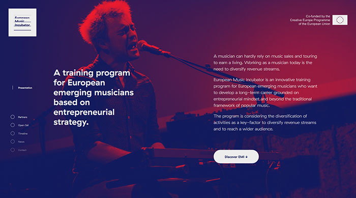 music-incubator_eu Cool Website Designs: 48 Great Website Design Examples