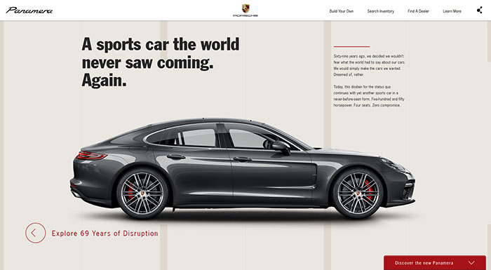 theporschepanamera_com Cool Website Designs: 48 Great Website Design Examples