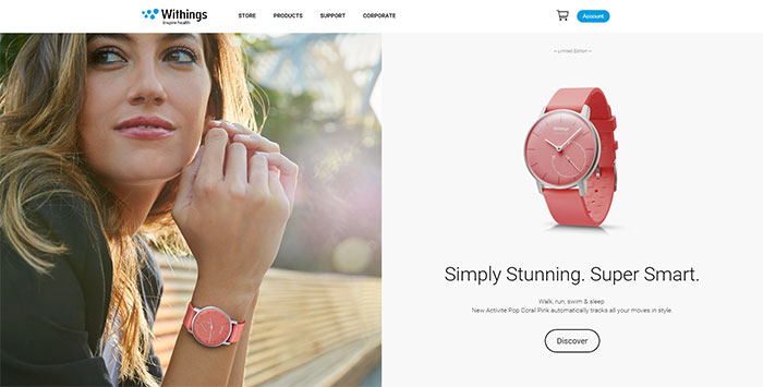 Withings site design