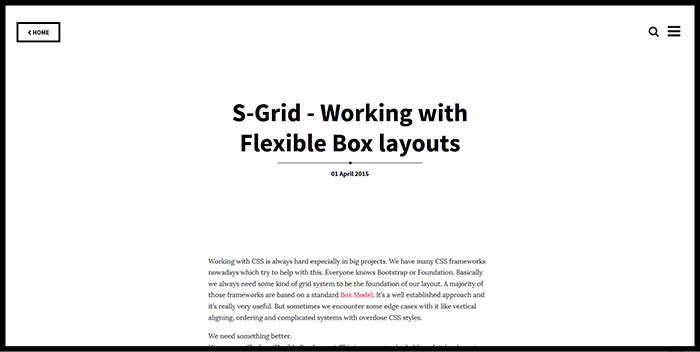 S-Grid - Working with Flexible Box layouts