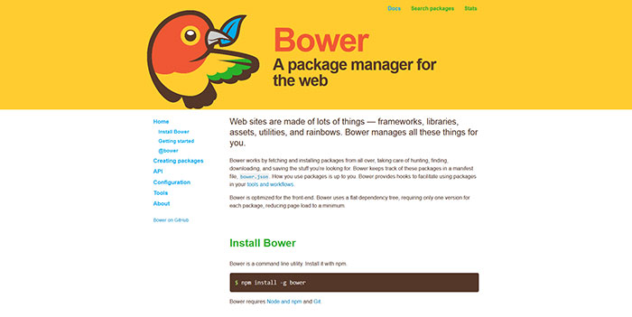 bower meaning in javascript
