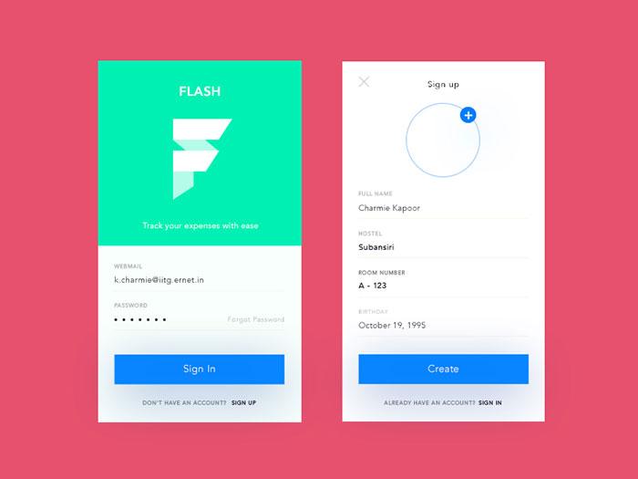 Login button design in html