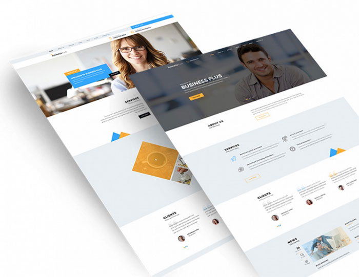 Free psd website templates available for download business plus psd template free psd website templates available for download wajeb Gallery