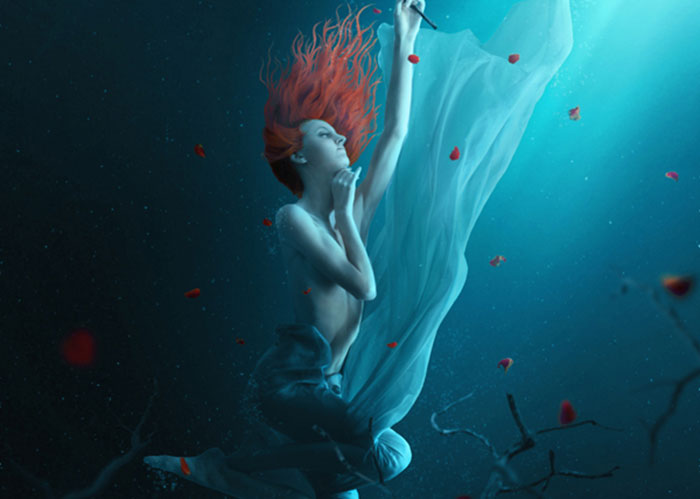 create-a-fantasy-underwater-scene-with-photoshop 91 Photoshop Photo Manipulation Tutorials: Become A Pro