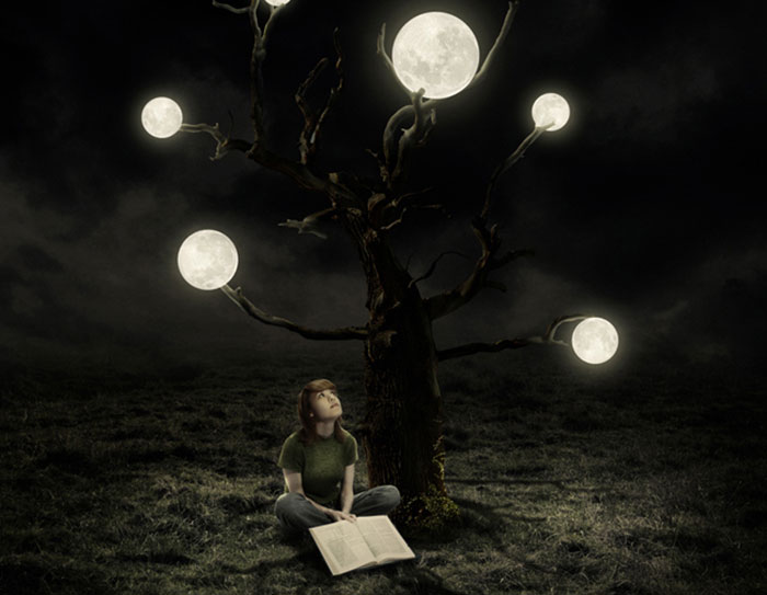 Create Surreal Artwork Tree Moons Photoshop 91 Photo Manipulation Tutorials