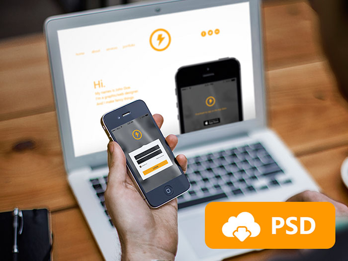 psd mockups to present your responsive designs with