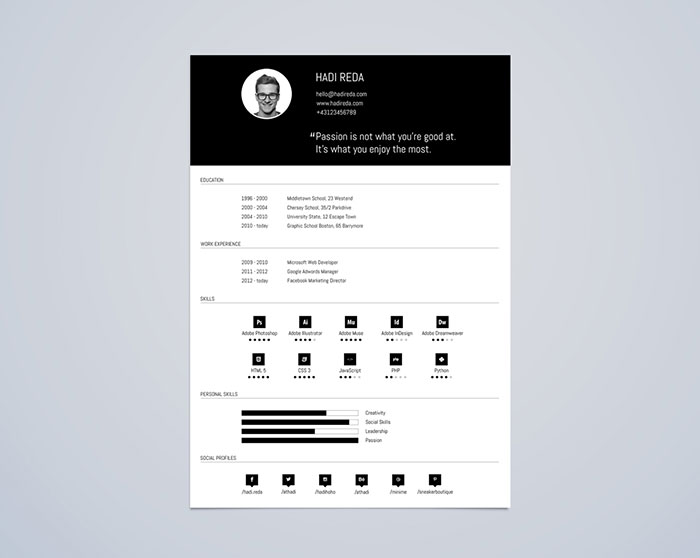 resume templates that you can download for free