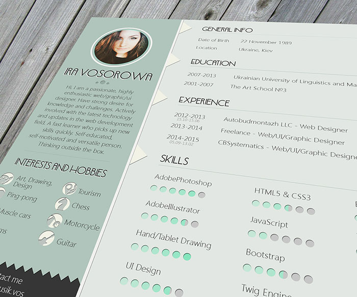 free resume template mint design