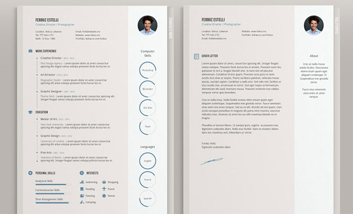 free minimal cv template resume templates that you can download for free - Templates Resume Free