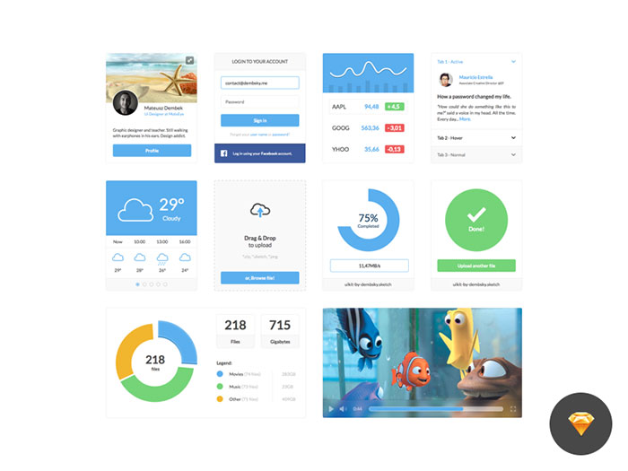 A Massive List Of UI Design Sketch Freebies