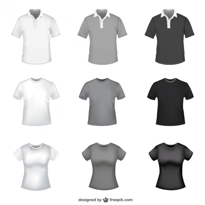 718289 82 FREE T-Shirt Template Options For Photoshop And Illustrator