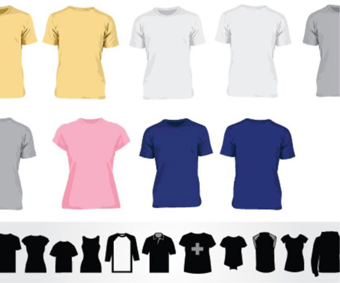 41 blank tshirt vector templates free to download