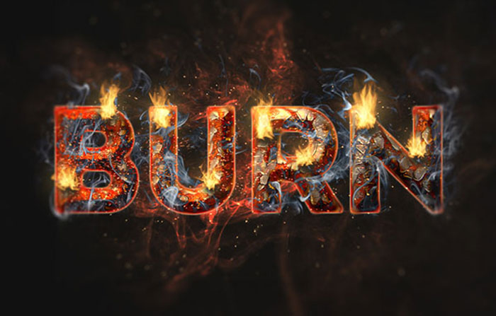 Create A Fire And Rust Text Effect Using