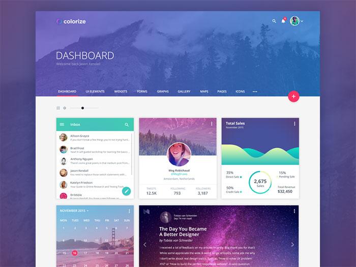 dashboard ui design inspiration