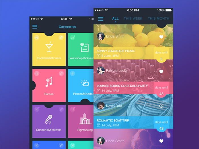 Event Calendar Design Inspiration : Searching for ui design inspiration here are a few concepts