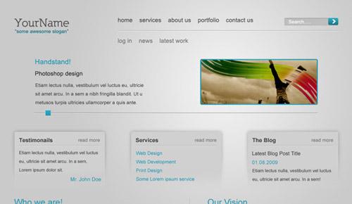 Create a Slick and Minimalist Web Layout Photoshop tutorial