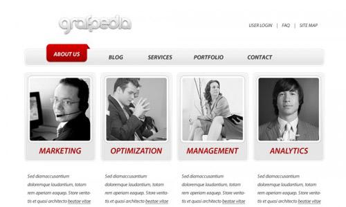 Create a business web template Photoshop tutorial