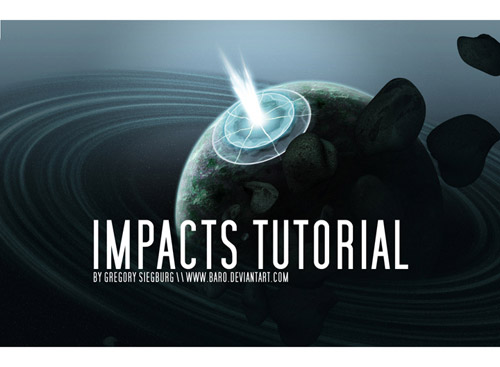 Planet Impact Photoshop tutorial
