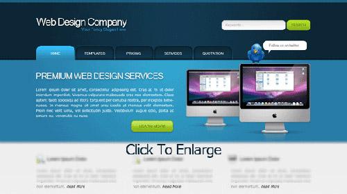 Web Design Layout #14 Photoshop tutorial