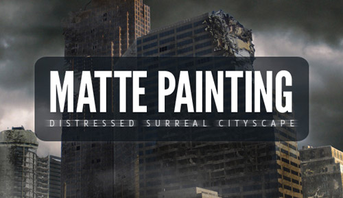 Matte Painting: Create A Distressed Surreal Cityscape Photoshop tutorial
