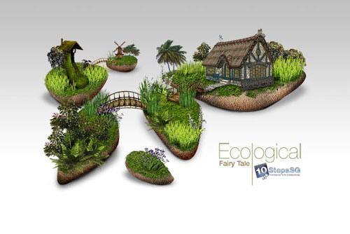 Creating an Ecological Fairy Tale Wallpaper Photoshop tutorial
