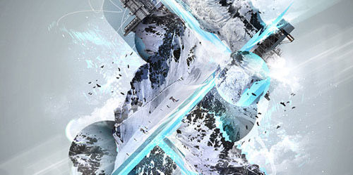 Make a Freezing Cold Snow-themed Abstract Piece Photoshop tutorial