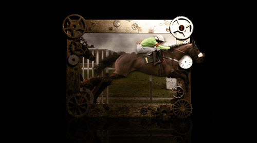 How to Create an Outstanding 'Out of Frame' Horse Scene Photoshop tutorial