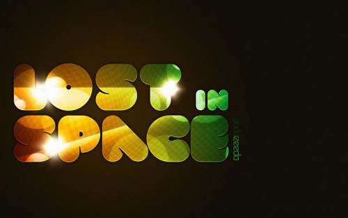 Lost in Space Typography tutorial in Photoshop