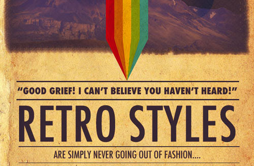 Design a Retro Styled Poster Photoshop tutorial