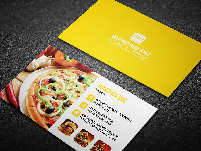 42 best and useful free psd files a designer must download free delicious food business card 4 42 the best and useful reheart Gallery