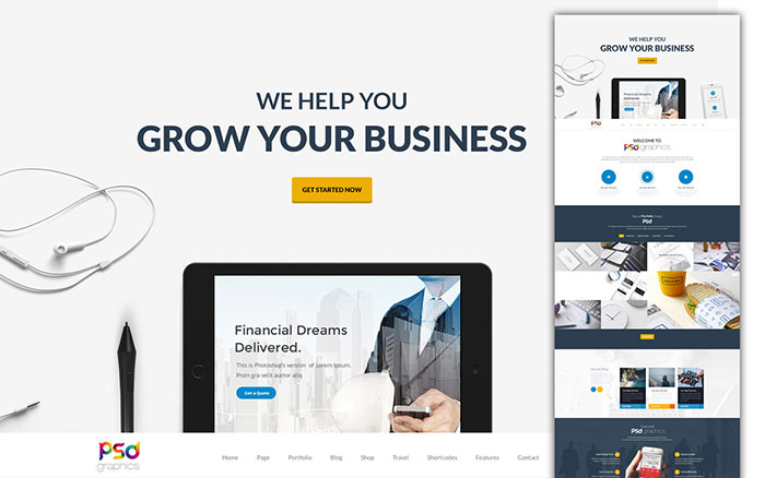 42 best and useful free psd files a designer must download professional business website template free psd 42 the best and useful accmission Gallery