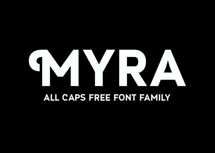 Myra Free Font Bold Fonts 42 Thick To Use For Headlines