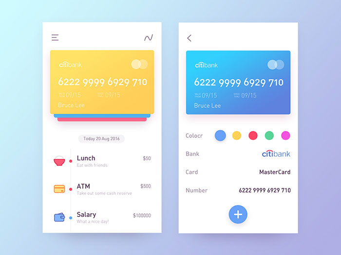 Showcase Of Colorful Mobile User Interface Designs