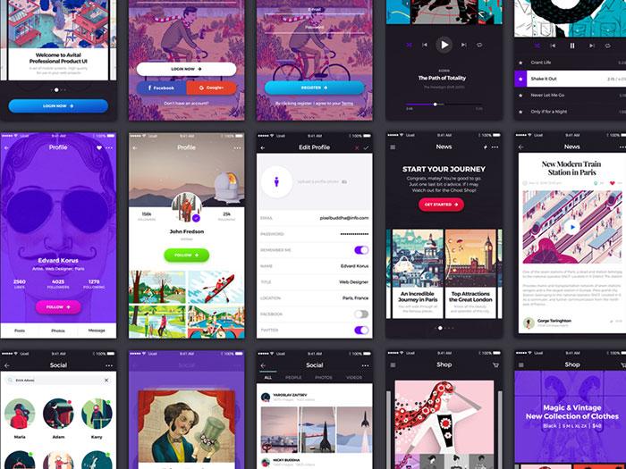 Free Flat UI Kits For A Resourceful Designer
