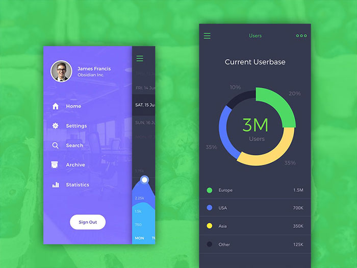 2686960 menus and buttons in mobile design 45 examples - App Design Ideas