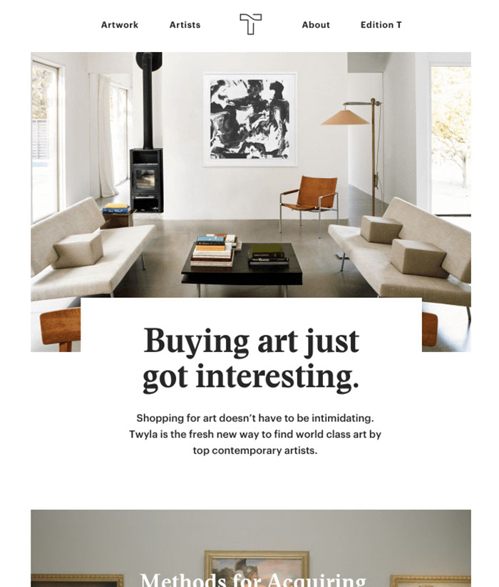 Meet Twyla A New Way To Buy Art Email