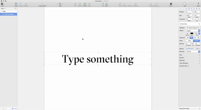 Sketch Text Tools