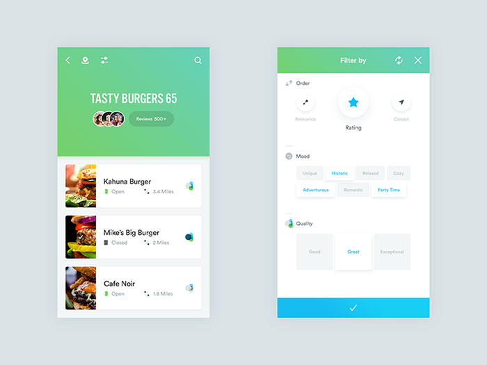 User Interface Design Inspiration - 54 UI Design Examples