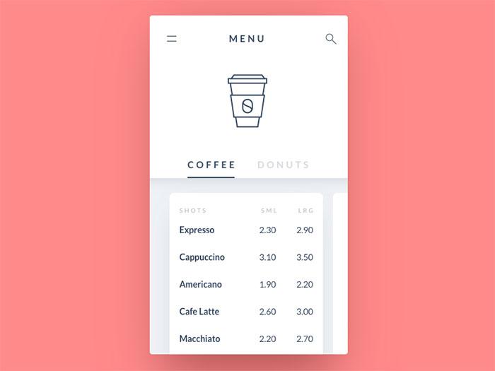 Calendar List Design : List design in mobile user interfaces designs