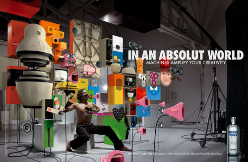 Absolut Vodka Print Advertisement 1